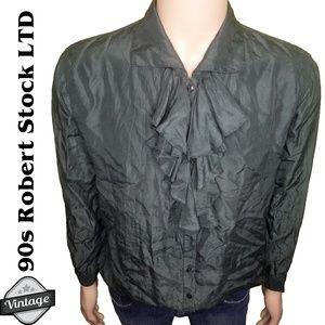 VTG Robert Stock Limited Green Poet Silk Shirt M